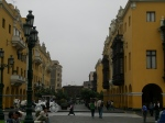Near the plaza in Lima