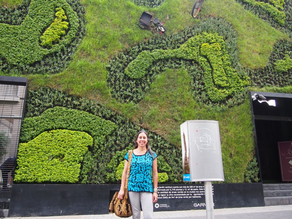 A walk in the historic city center found me in front of this vertical garden.