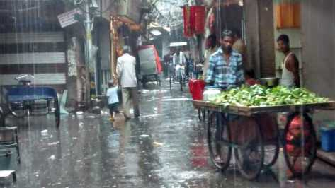 A soggy trip through a soggy market
