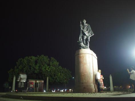 Chennai's tribute to Gandhi, along the Bay