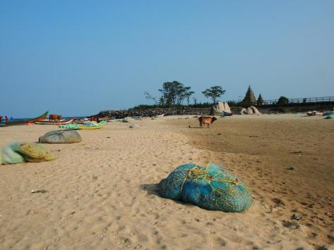 Mahabalipuram, with the Shore Temple in the distance