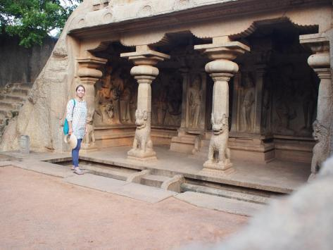 Stone carvings from the Pallavas