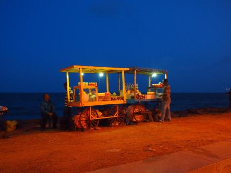 Pineapple just tastes better when eating here on the rocky coast of the Bay - Pondicherry