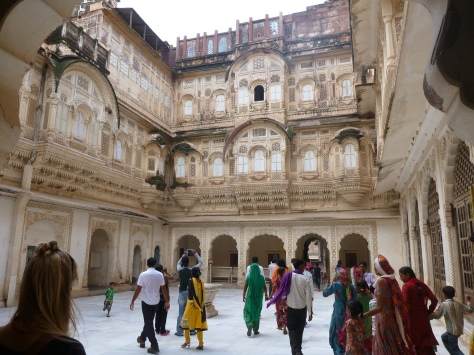 One of the most interior courtyards, where the maharaja's wives could live without  been seen by any other men.