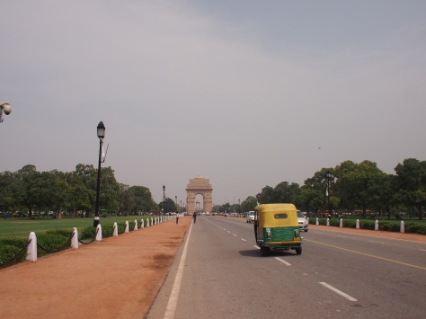 The RajWalk, a strip of parks between the parliament building and India Gate.