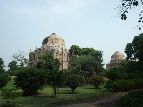 Lodi Gardens with interesting buildings around nearly every bend in the path.
