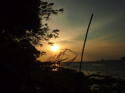 The Chinese fishing nets at dusk
