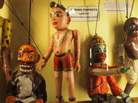 Puppets are big in a few places in India, including Kerala.
