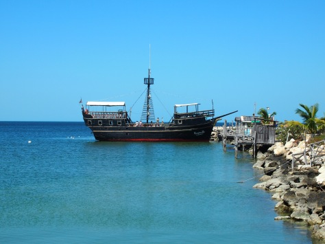 A remade pirate ship complete with a cheesy pirate reenactment - which I must say I enjoyed!