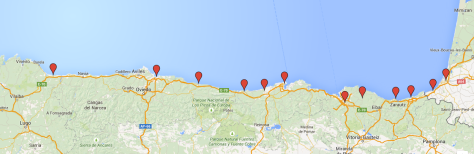 Our route along the Cantabrian Coast