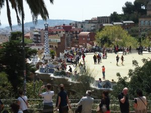 Parc Guell is a busy place, especially on a Sunday