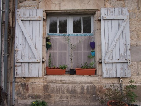 Shuttered window in Bayonne