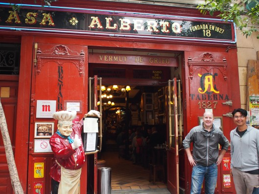 Casa Alberto, one of the tapas bars from the Century Club.