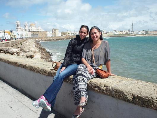 Renee & I enjoying the boardwalk of Cadiz.