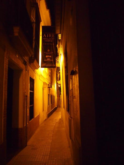 The old city on a fairly quiet Tuesday night.